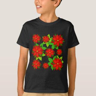 Camiseta Design do estilo da flor da poinsétia