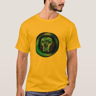 Camiseta design do fantasma das cores do Dia das Bruxas do