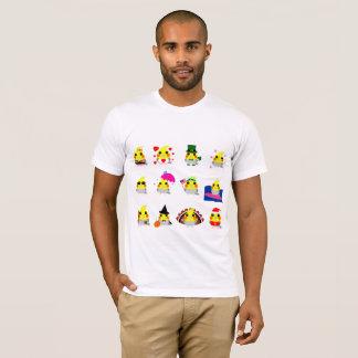 Camiseta design do feriado do pássaro do Cockatiel do