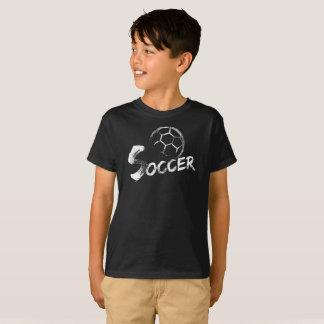 Camiseta Design do futebol do estilo do Grunge