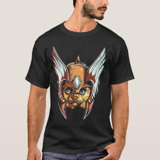 Camiseta Design do guerreiro do gato