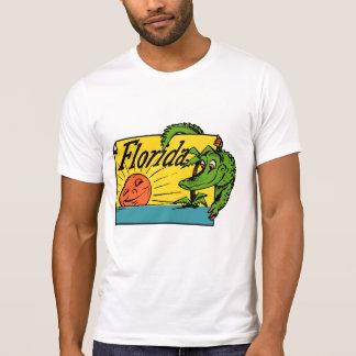 Camiseta design do jacaré de Florida dos anos 50