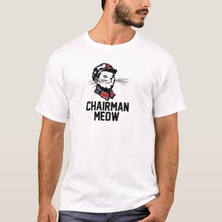 Camiseta Design do Meow do presidente (Mao)
