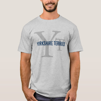 Camiseta Design do monograma da raça do yorkshire terrier
