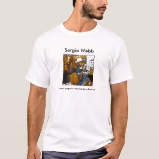 Camiseta Design do t-shirt da guitarra de Sergio Webb