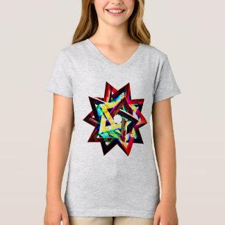 Camiseta design do t-shirt das formas dos quadrados dos