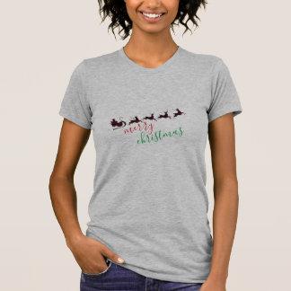 Camiseta design do t-shirt do xmas da decoração do Feliz
