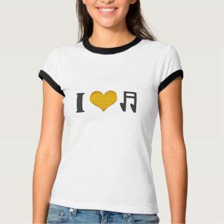 Camiseta design do t-shirt dos melómanos da música do amor