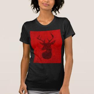 Camiseta Design do veado vermelho