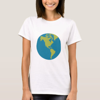 Camiseta Design dos continentes do mundo da terra do