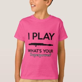 Camiseta design engraçado das flautas