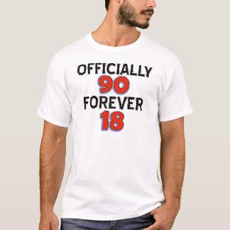 Camiseta design engraçado do aniversário do 90
