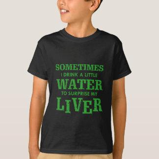 Camiseta Design engraçado do fígado