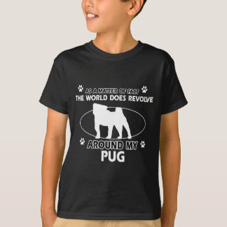 Camiseta Design engraçado do Pug