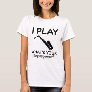 Camiseta design engraçado do saxofone