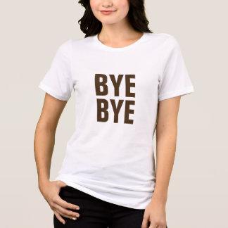 Camiseta design engraçado do t-shirt do hipster do adeus