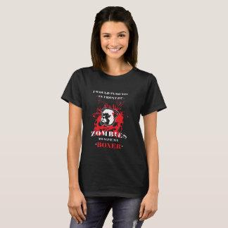 Camiseta Design engraçado do zombi do cão do pugilista