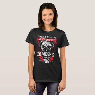 Camiseta Design engraçado do zombi do Pug