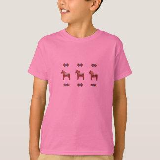 Camiseta Design escandinavo do cavalo de Dala do sueco