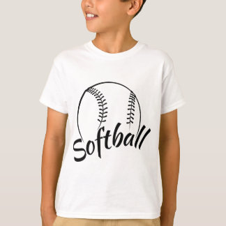 Camiseta Design estilizado do softball com pia batismal do