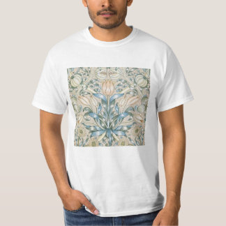 Camiseta Design floral da arte do vintage do lírio e da