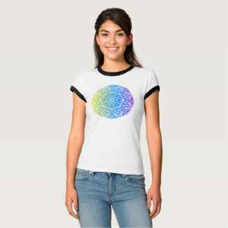 Camiseta Design floral étnico abstrato colorido da mandala