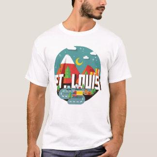 Camiseta Design geométrico de St Louis, Missouri