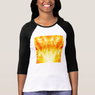 Camiseta Design geométrico do cubo do Sunburst amarelo