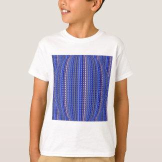 Camiseta Design geométrico roxo colorido brilhante mega