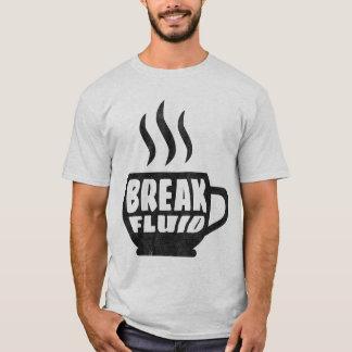 Camiseta Design gráfico do t-shirt do café do Grunge fluido