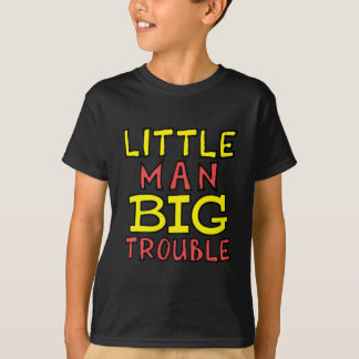Camiseta Design grande do miúdo do problema do homem