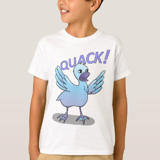 Camiseta Design gritando do macarronete do Doodle do pato