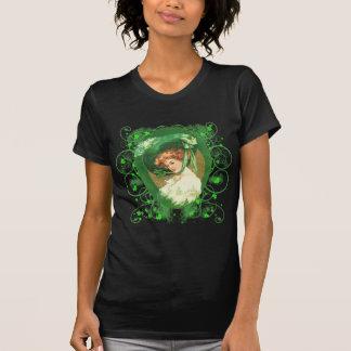 Camiseta Design irlandês bonito do vintage da mulher