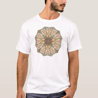 Camiseta Design islâmico do teste padrão do vintage