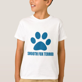 CAMISETA DESIGN LISO DO CÃO DE TERRIER DE RAPOSA