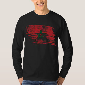 Camiseta Design marroquino legal da bandeira