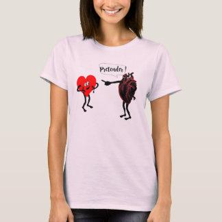 Camiseta design médico do amor do coração do pretendente