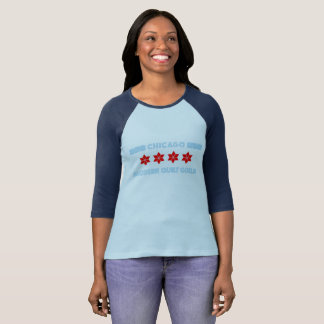 Camiseta Design moderno da guilda da edredão de Chicago da