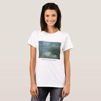 Camiseta Design nevoento da manhã do rio do Bitterroot