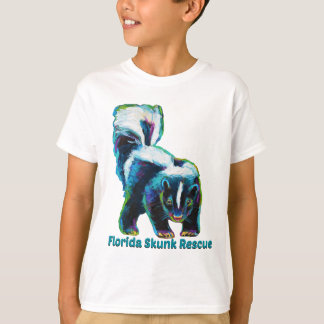 Camiseta Design novo do salvamento da jaritataca de Florida