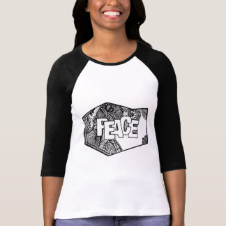 Camiseta Design original do doodle da paz, t-shirt do