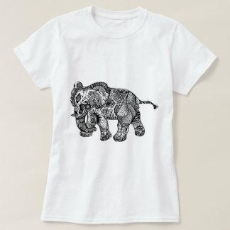 Camiseta Design original do elefante, t-shirt branco