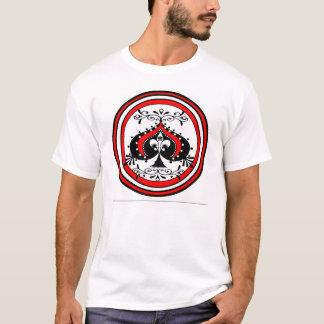 Camiseta Design ornamentado da pá branco/vermelho/preto