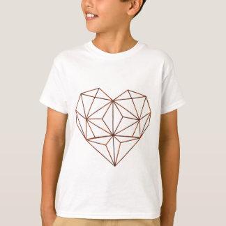 Camiseta design oxidação-geométrico do coração