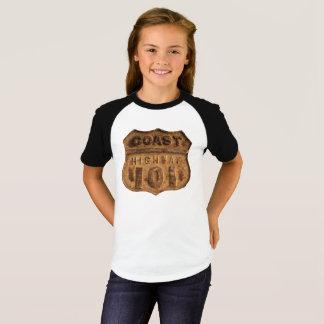 Camiseta Design oxidado da estrada 101 da costa
