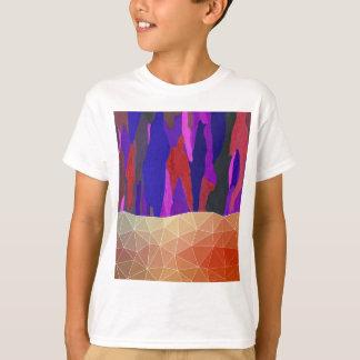 Camiseta Design Pastel colorido abstrato do olhar