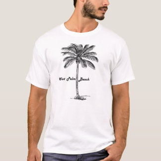 Camiseta Design preto e branco de West Palm Beach & de