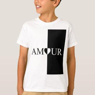 Camiseta Design preto e branco do amor do CASO AMOROSO
