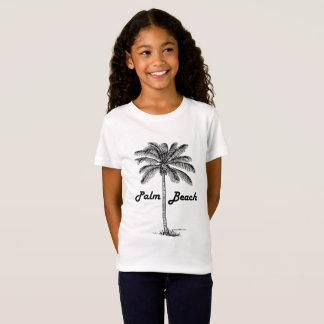 Camiseta Design preto e branco do Palm Beach Florida & da