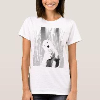 Camiseta Design preto e branco original do urso polar
